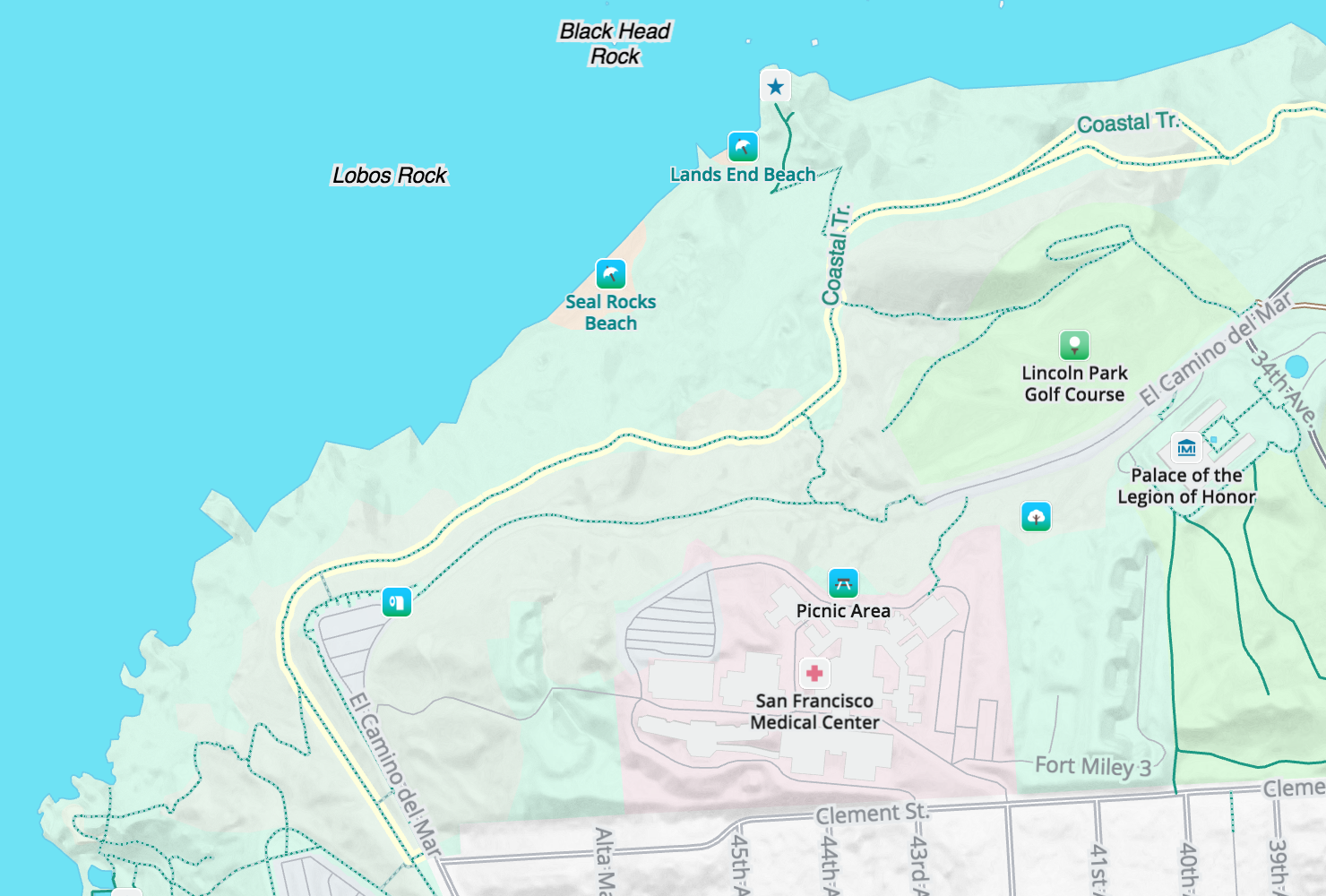 Walkabout Map Style · Mapzen