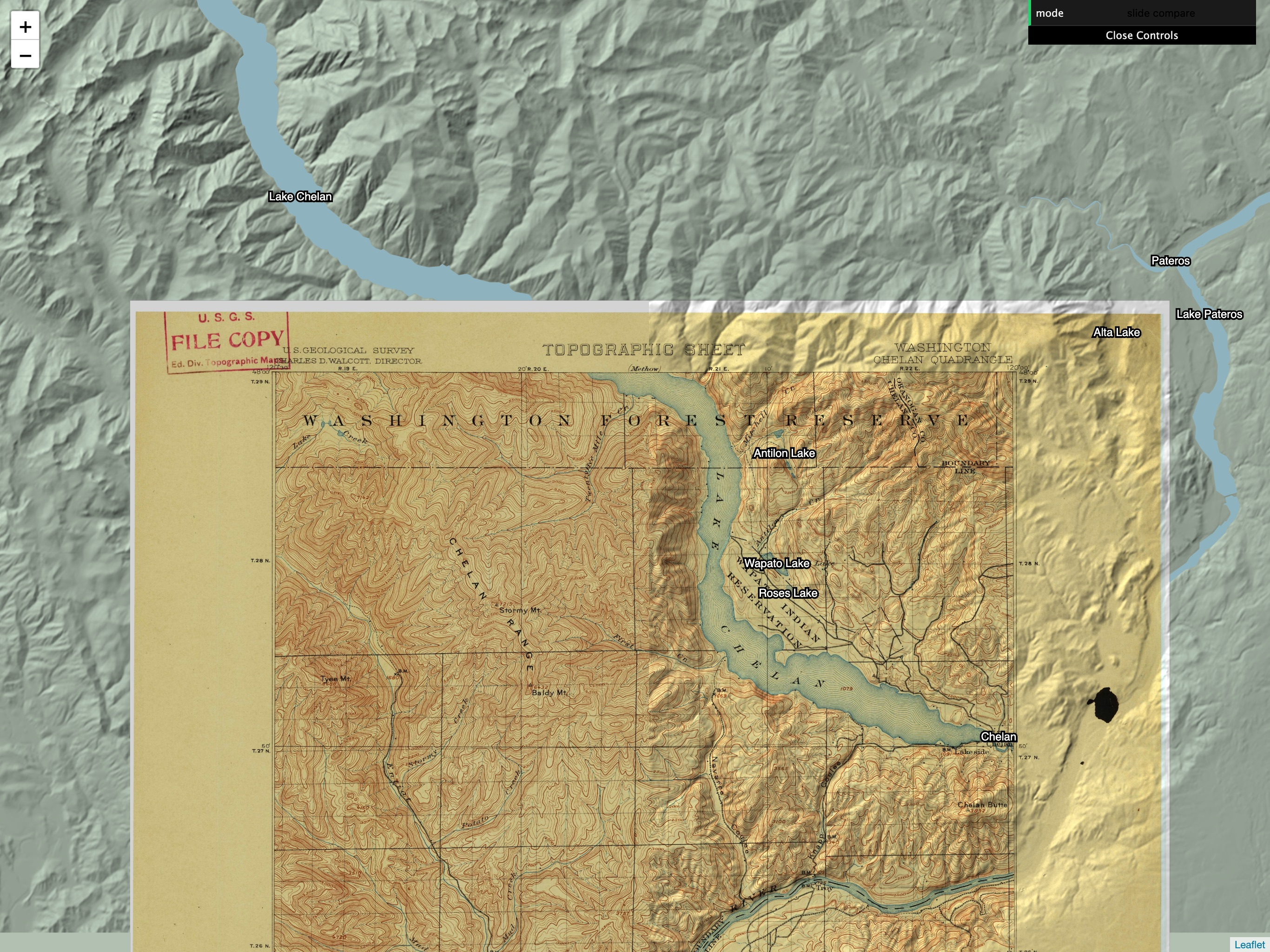 USGS historical map overlay