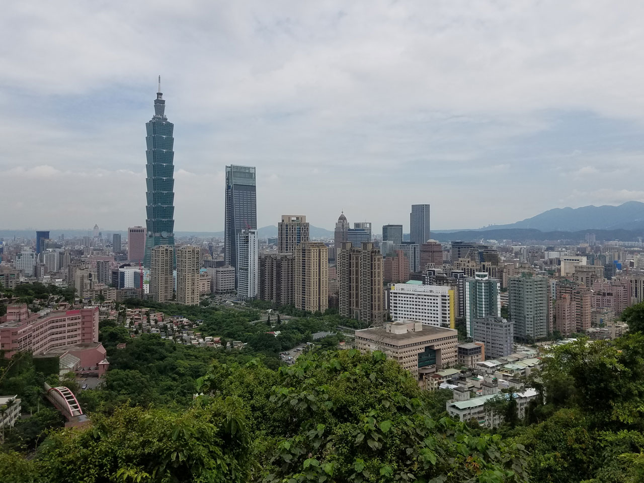 Taipei 101, as viewed from Xiangshan Trail