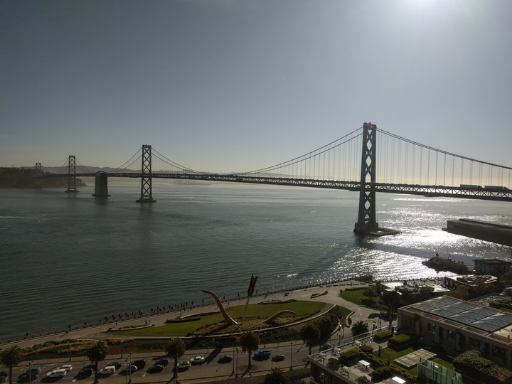 The Bay and Embarcadero from the office