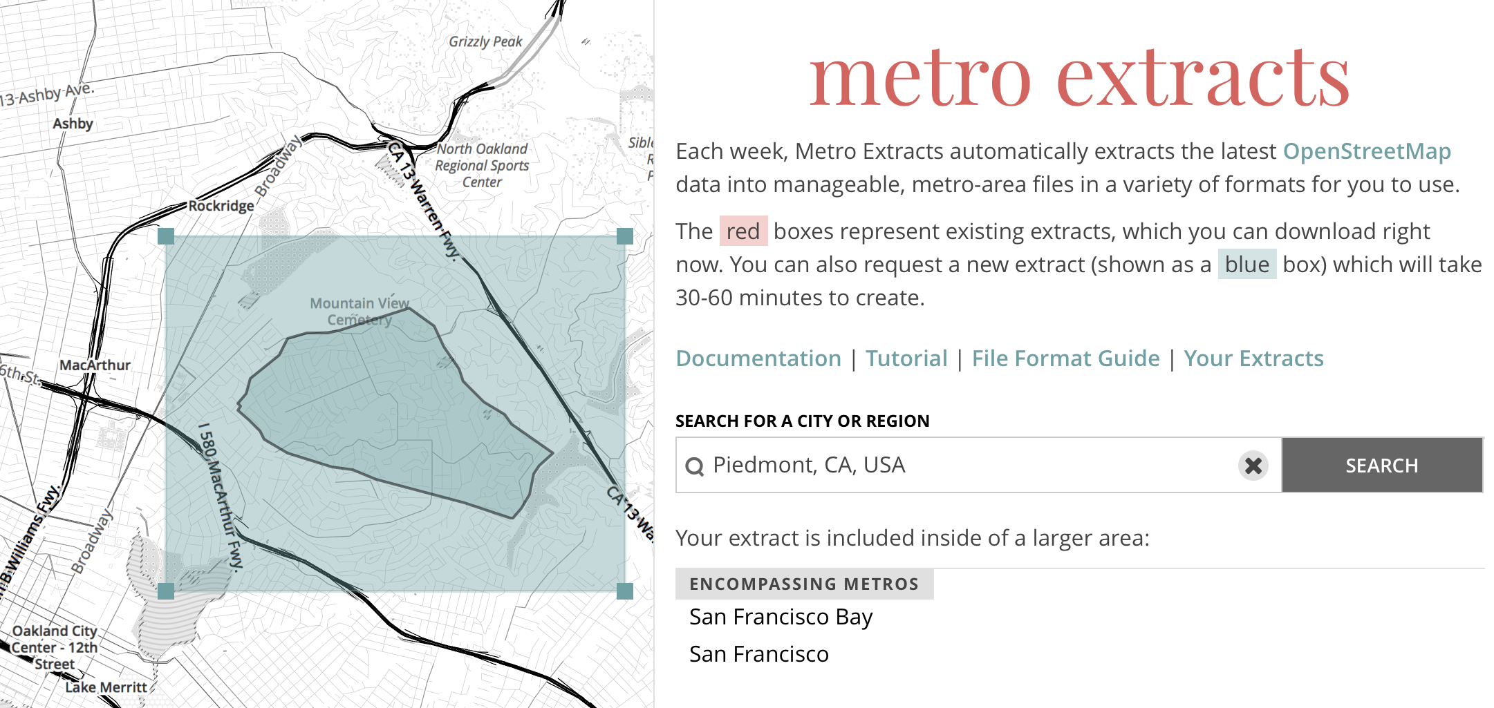 screenshot another more different of Metro Extracts
