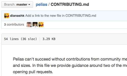Contributor guidelines for Pelias project